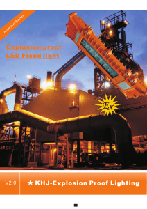 Product Specification - LED Explosion Proof Lighting