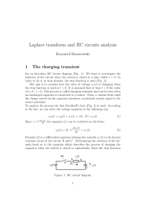 Laplace transform and RC circuits analysis