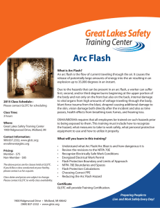Arc Flash - Great Lakes Safety Training Center