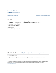 Retinal Ganglion Cell Differentiation and Transplantation