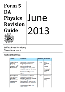 GCSE Double Award Physics Revision Guide