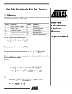 Data Rate Calculation for Line Scan Cameras Application Note