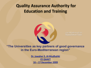 Quality Assurance Authority for Education and Training