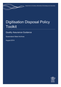 Digitisation Disposal Policy Toolkit