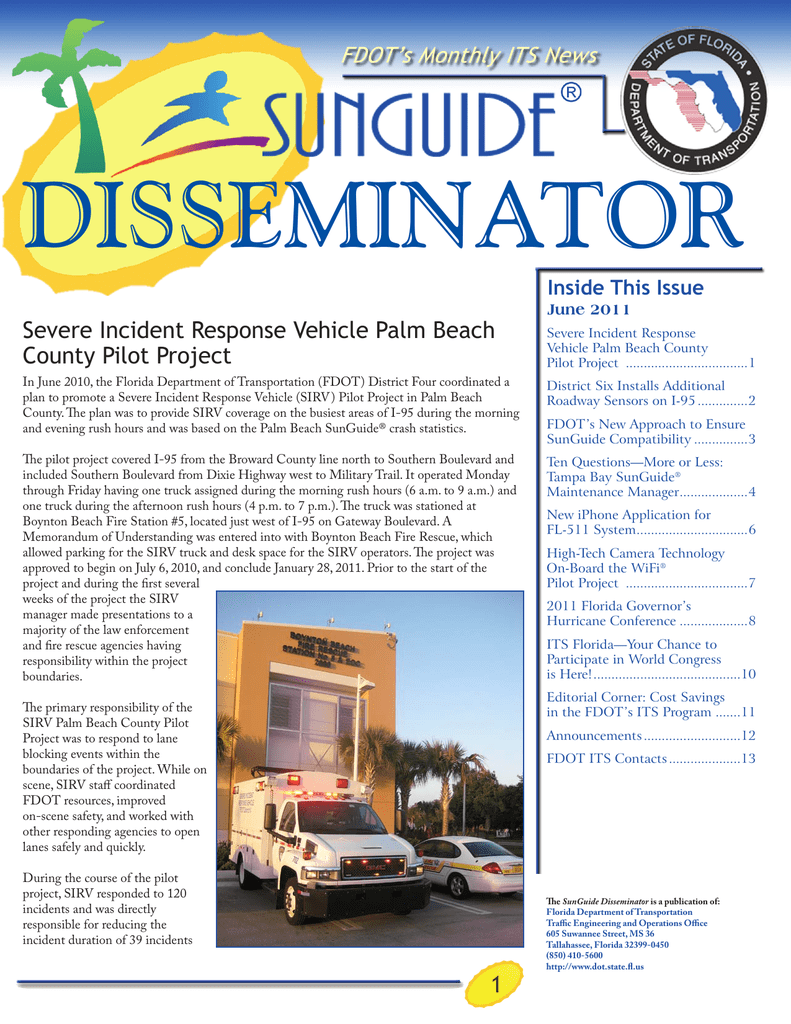 FDOT`s New Approach to Ensure SunGuide® Compatibility