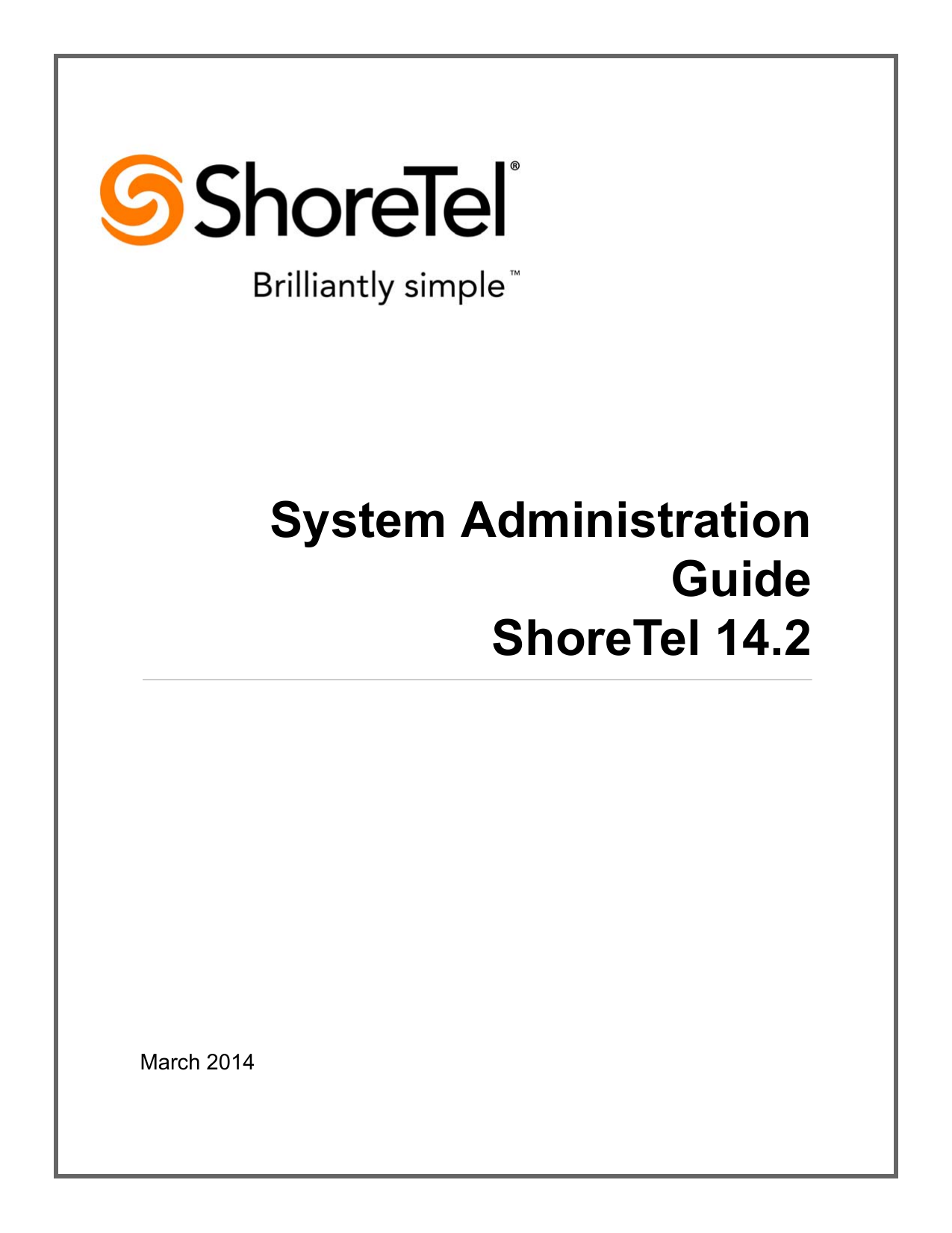 ShoreTel 14 2 Amin Guide - Converged Technology Professionals