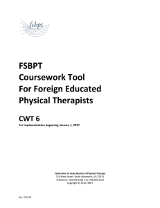 coursework evaluation tool cwt