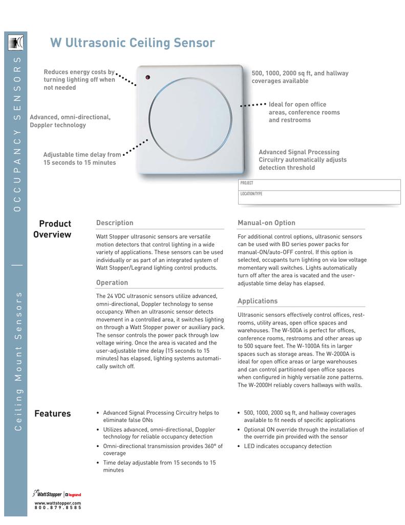 wattstopper wiring diagrams w ultrasonic ceiling sensor  w ultrasonic ceiling sensor