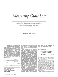 Measuring Cable Loss
