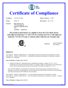 certificate of conformance template word - gasalertmicroclip series certificate of compliance