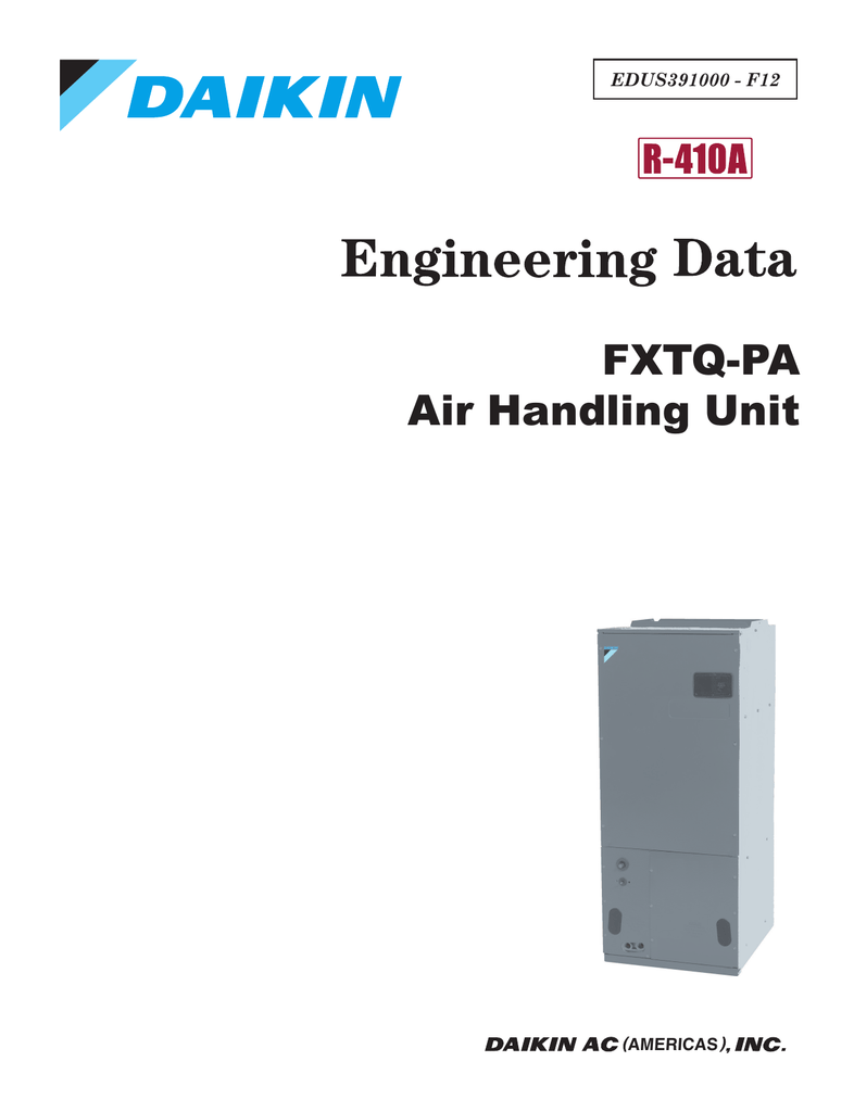 FXTQ-PA Air Handling Unit on