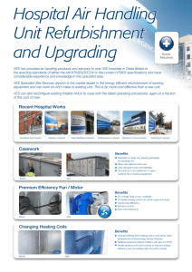 Hospital Air Handling Unit Refurbishment and Upgrading