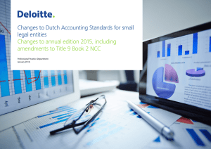 Changes to Dutch Accounting Standards for small legal
