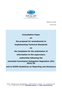 Consultation Paper on the proposal for amendments to
