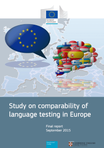 Study on comparability of language testing in Europe