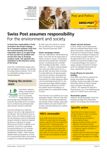 Swiss Post assumes responsability