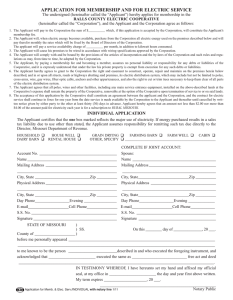 Membership Application - Ralls County Electric Cooperative
