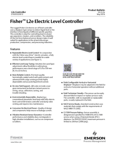 Fisher™ L2e Electric Level Controller