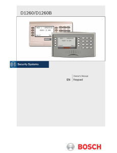 Operation Manual - Bosch Security Systems