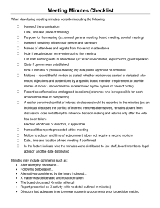 Meeting Minutes Checklist