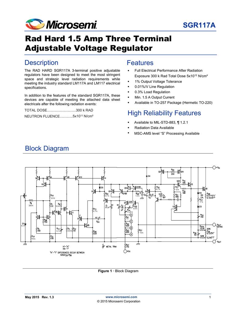 Sgr117a Microsemi Reliability Block Diagram 2 Out Of 3