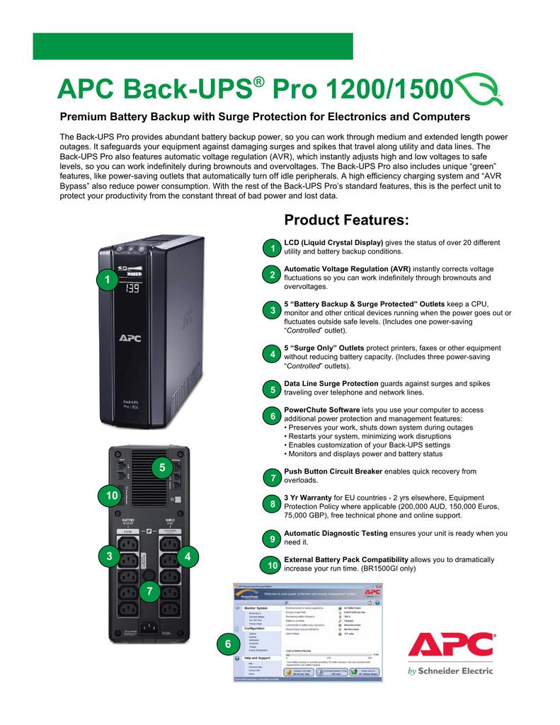APC Back-UPS® Pro 1200/1500