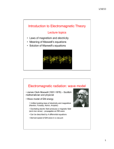 Introduction to Electromagnetic Theory Electromagnetic radiation