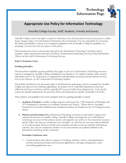 Appropriate Use Policy for Information Technology