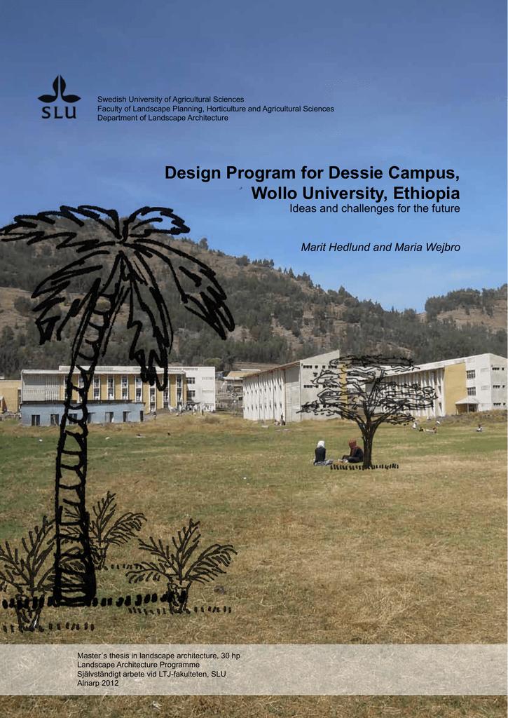 Design Program for Dessie Campus, Wollo University, Ethiopia