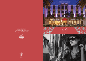 Sales Kit - Luxe Hotels