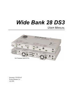 Wide Bank 28 DS3 - Force10 Networks