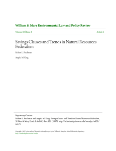 Savings Clauses and Trends in Natural Resources Federalism