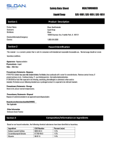 Safety Data Sheet Liquid Soap Section 3 Composition/Information