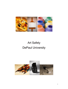 Art Safety Manual - Offices of DePaul