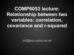 COMP6053 lecture: Relationship between two variables: correlation