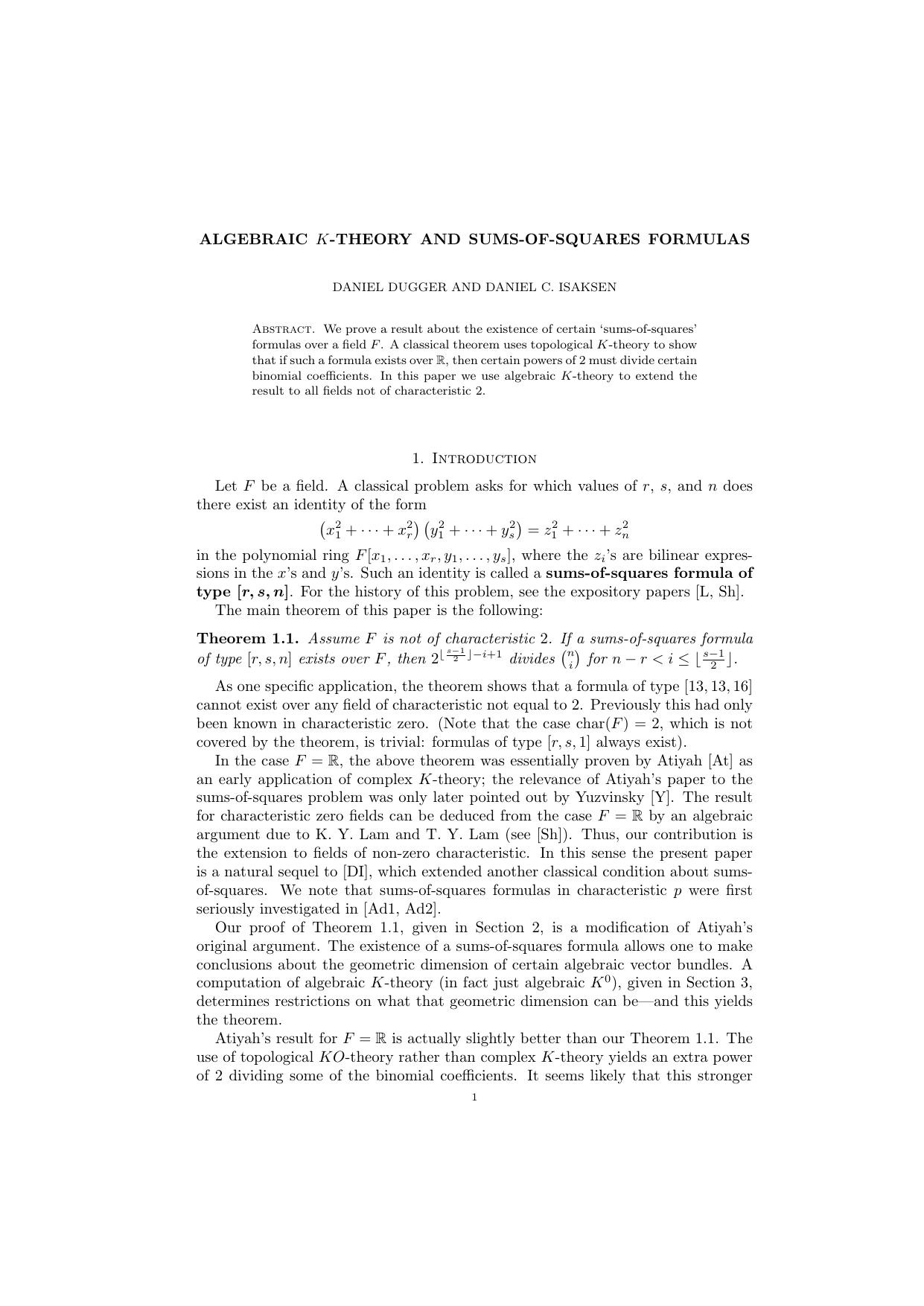 Classical algebraic K-theory
