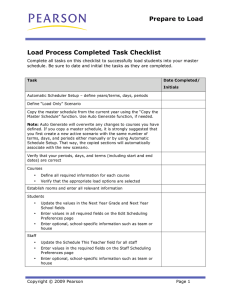 Load Process Worksheet