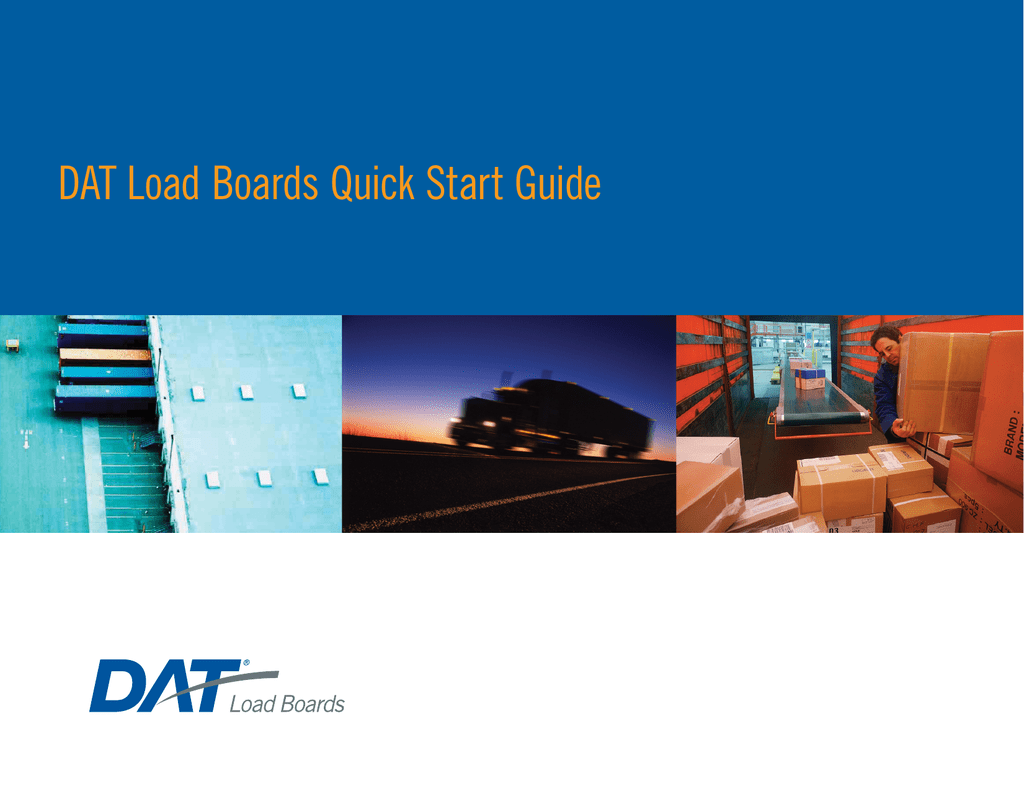 DAT Load Boards Quick Start Guide