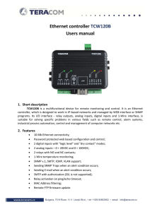 Ethernet controller TCW120B Users manual