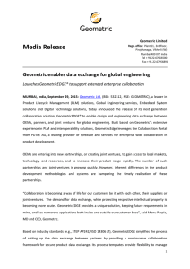 Geometric enables data exchange for global