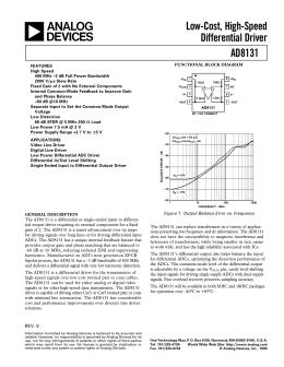 FIN1031 3.3V LVDS 4-Bit High Speed Differential Driver