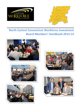 North Central Connecticut Workforce Investment Board Members
