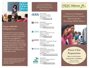 Praxis I Test Preparation - RESC Alliance Praxis Prep Courses