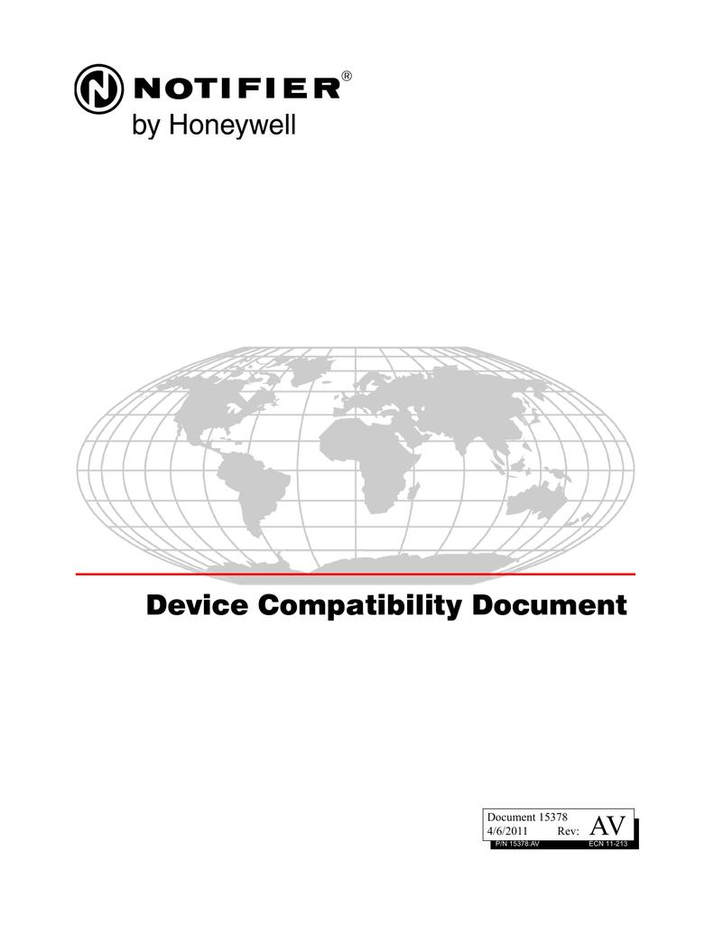 Notifier Smoke Compatabilty Doc 15378