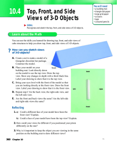 Top, Front, and Side Views of 3-D Objects