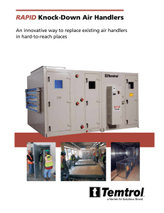 RAPID Knock-Down Air Handlers