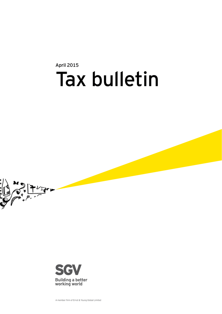 Tax bulletin - April 2015
