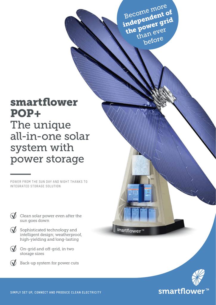 smartflower POP+ The unique all-in