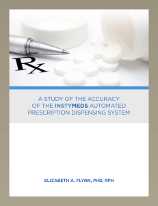 A Study Of The Accuracy Of InstyMeds By Dr. Elizabeth Flynn
