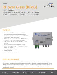PDF CP85xTU‐01 RFoG OBI‐Free MDU R‐ONU Data Sheet